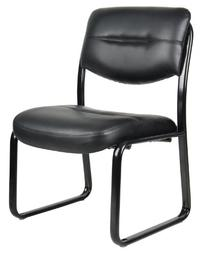 BOSS Office Products B9539 Leather Sled Base Side Chair in