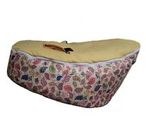 LCY Baby Bean Bag Chair Birds Print Yellow-UNFILLED