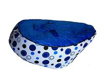 LCY Baby Bean Bag Chair Blue Circles Blue-UNFILLED