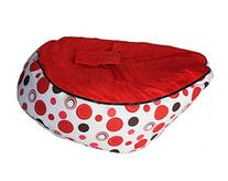 LCY Baby Bean Bag Chair Red Circles Red-UNFILLED