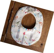 Baby Bib, Woodland Party with Bunting Foxes, Owls, Squirrels