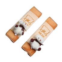 Happy Cherry 2 x Baby Children Bear Plush Seat Belt Shoulder