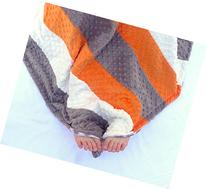 Baby Quilt - Orange and Gray Baby Blanket