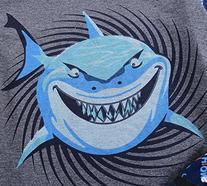 Babypajama Little Boys' Shark Pajama Set 2 Piece T-Shirt &