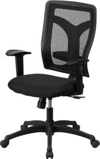 High Back Designer Back Task Chair Adjustable Height Arms &