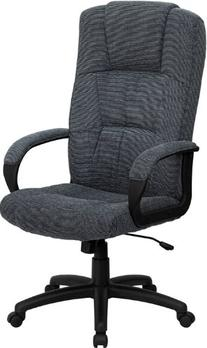 High Back Fabric Executive Office Chair Gray