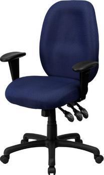 High Back Navy Fabric Multi-Functional Ergonomic Task Chair