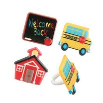 Back to School Icon Cupcake Rings - 24 pcs