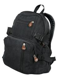Backpack - Vintage Canvas Mini Backpack, Black by Rothco