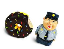 BigMouth Inc Bad Cop No Donut Salt and Pepper Shaker Set,