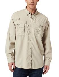 Columbia Men's Bahama II Long Sleeve Shirt, Fossil, X-Large