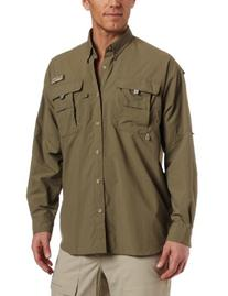 Columbia Men's Bahama II Long Sleeve Shirt, Sage, Medium