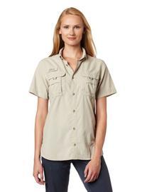 Columbia Women's Bahama Short Sleeve Shirt, Medium, White