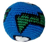 Earth Ball Hacky Sack / Footbag - Hand Crocheted Made in