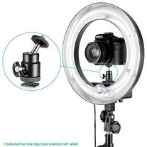 Neewer Mini Ball Head with Lock and Hot Shoe Adapter Camera