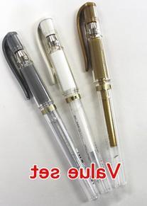 Uni Ball Signo Gel Ink Pens -Medium Point 1.0mm-gold &