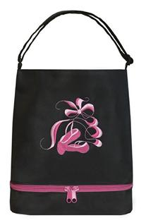 It's A Girl's Life Ballet Tote with Shoe Compartment Black