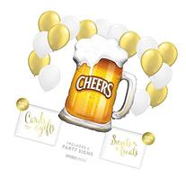 Andaz Press Balloon Party Kit with Signs, Birthday
