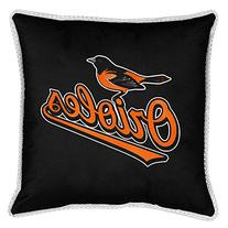 Baltimore Orioles SIDELINES Jersey Material Toss Pillow