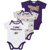 NFL Baltimore Ravens Bodysuit , 3-6 Months, Purple/White