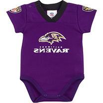 NFL Baltimore Ravens Dazzle Mesh V-Neck Bodysuit, 12 Months