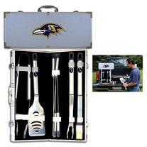 NFL Baltimore Ravens 8-Piece Barbecue Set w/Case