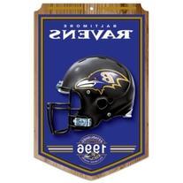 Baltimore Ravens Year Established Wood Sign