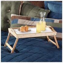 Bamboo Breakfast in Bed Folding Leg Serving Tray Handles TV