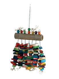 Caitec Bamboo Log Bird Chew Toy, Colorful & Entertaining,