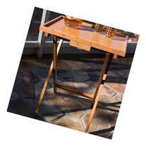 Lipper International Bamboo Snack TV Tray Table