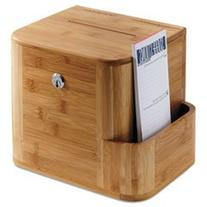 * Bamboo Suggestion Box, 10 x 8 x 14, Natural