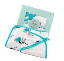 Bamboo Baby Towel with Hood & Washcloth Bath Set, Organic