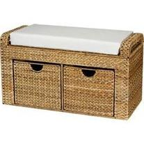 Household Essentials Banana Leaf Storage Bench with Cusion