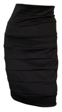 eVogues Plus size Bandage Pull On Pencil Skirt Black - 1X