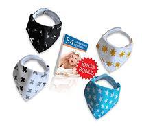 Baby Bandana Drool Bib, Unisex 4 Pack of Extra Absorbent 100