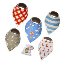 Baby Bandana Drool Bibs With Snaps For Boys and Girls  -