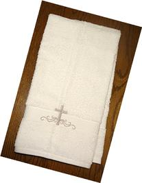 Baby Baptism Towel with Cross Embroidery