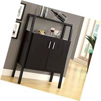 Monarch Specialties Bar Unit with Bottle and Glass Storage,