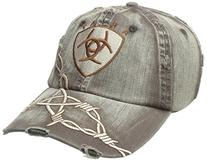 Ariat Men's Distresed Barbed Wire Hat, Brown, One Size