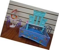 Barbie Size Dollhouse Furniture- Water Fountain & Swimming