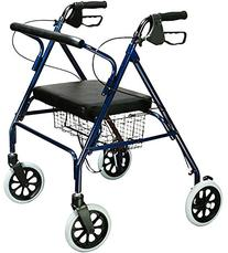 Bariatric Rollator Walker Heavy Duty with Large Padded Seat