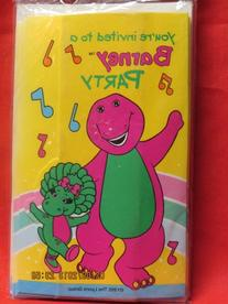 """Barney Invitations """" You're Invited to a Barney Party"""