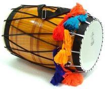SG Musical Natural Barrel Shaped Punjabi Bhangra DHOL NEW