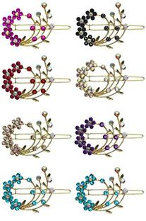 8 Pack - 8 Barrettes with Snap On Clip for Thin Hair or for
