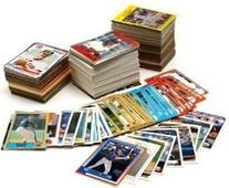 MLB Baseball Card Collector Box Over 500 Different Cards.