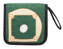 Baseball CD/DVD Blu-Ray Disc Holder with Felt Field for Car