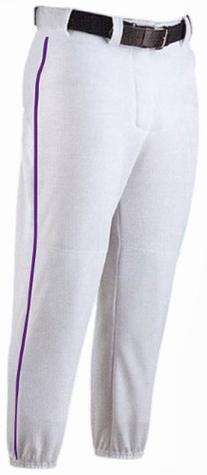 Baseball Pant with Piping - Youth Grey/Navy/MED
