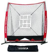 Rukket 5x5 Baseball & Softball Practice Net with Strike Zone