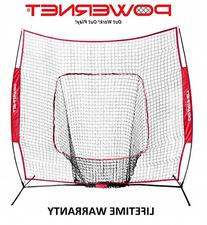 PowerNet Baseball and Softball Practice Net 7 x 7 with bow