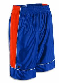 Champion Baseline Basketball Short - Large, Navy/Orange
